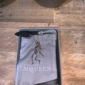 db71a42f0e8a Alexander McQueen Jewelry - Alexander McQueen Skeleton Lapel Pin